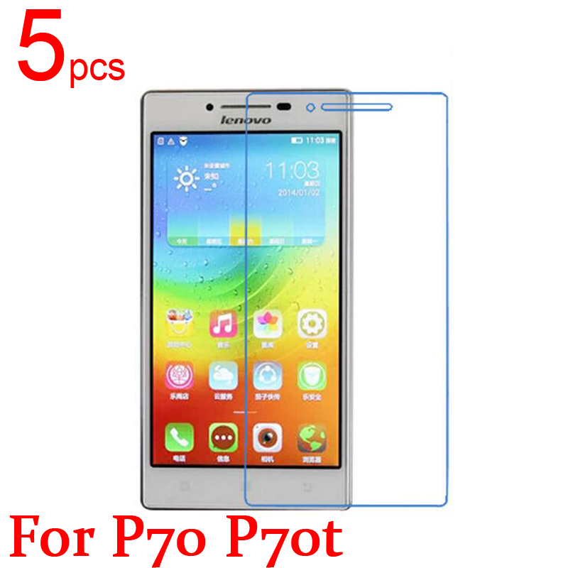 5pcs glossy Ultra Clear/Matte/Nano anti-Explosion LCD Screen Protector Film Cover For For Lenovo P780 P770 P70 T Film + cloth