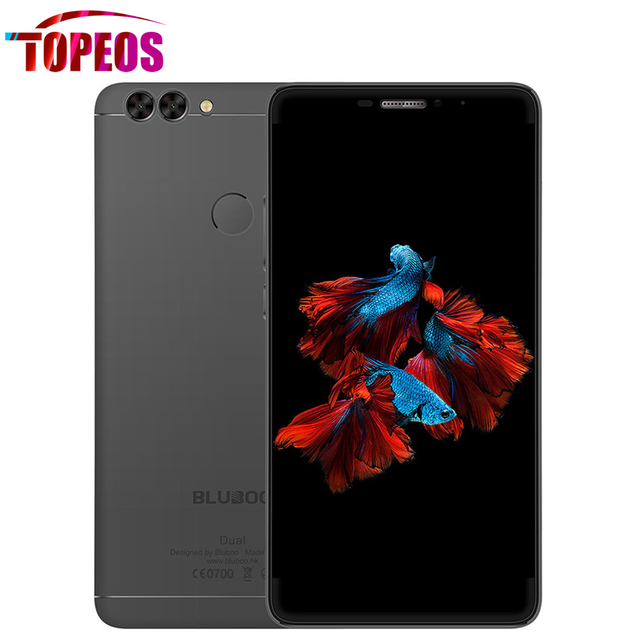Bluboo Dual 5.5Inch Moibile Phone Dual Rear Camera MTK6737T Quad Core 2GB RAM 16GB ROM 13MP 1920*1080p Android 6.0 Touch ID