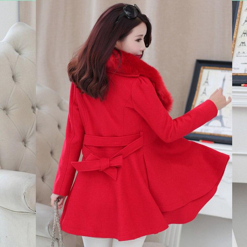 Veste Femmes Noir De Des Survêtement Doux Col Preppy Femme rouge Casual D'hiver Longue Tranchée Fourrure Laine Hndjxxxy2018 rose Ruches Manteau Grand twUO5