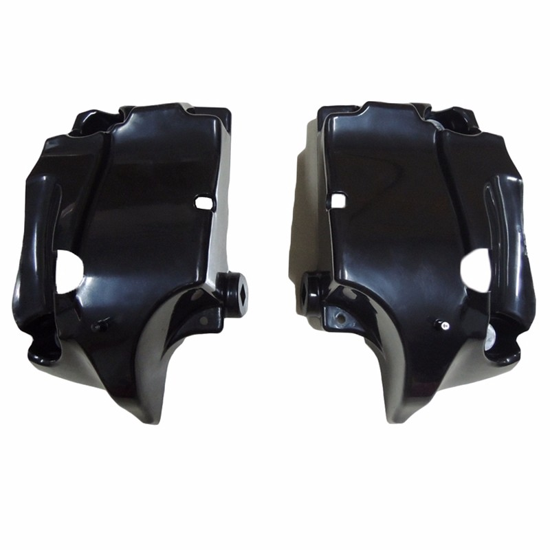 Painted Black Lower Vented Leg Fairing Gloves Box For Harley Touring Models Road King FLT FLHT FLHTCU Street Glide Ultra-Classic (5)