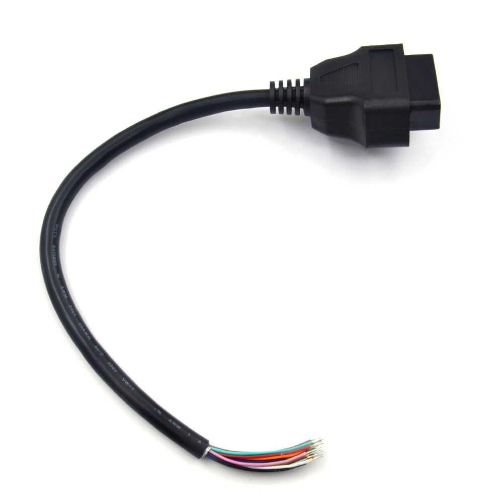 2018 OBD OBD2 16Pin Female Extension Opening Cable Car Diagnostic Interface Connector OBD II Female Converter OBD2 Male Cable