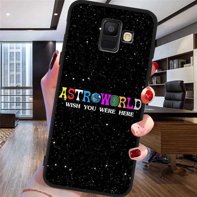 טראביס סקוט astroworld לסמסונג גלקסי A9 A8 A7 A6 A5 A3 J3 J4 J5 J6 J8 בתוספת 2017 2018 m30 A40S A10 A20E טלפון Case כיסוי