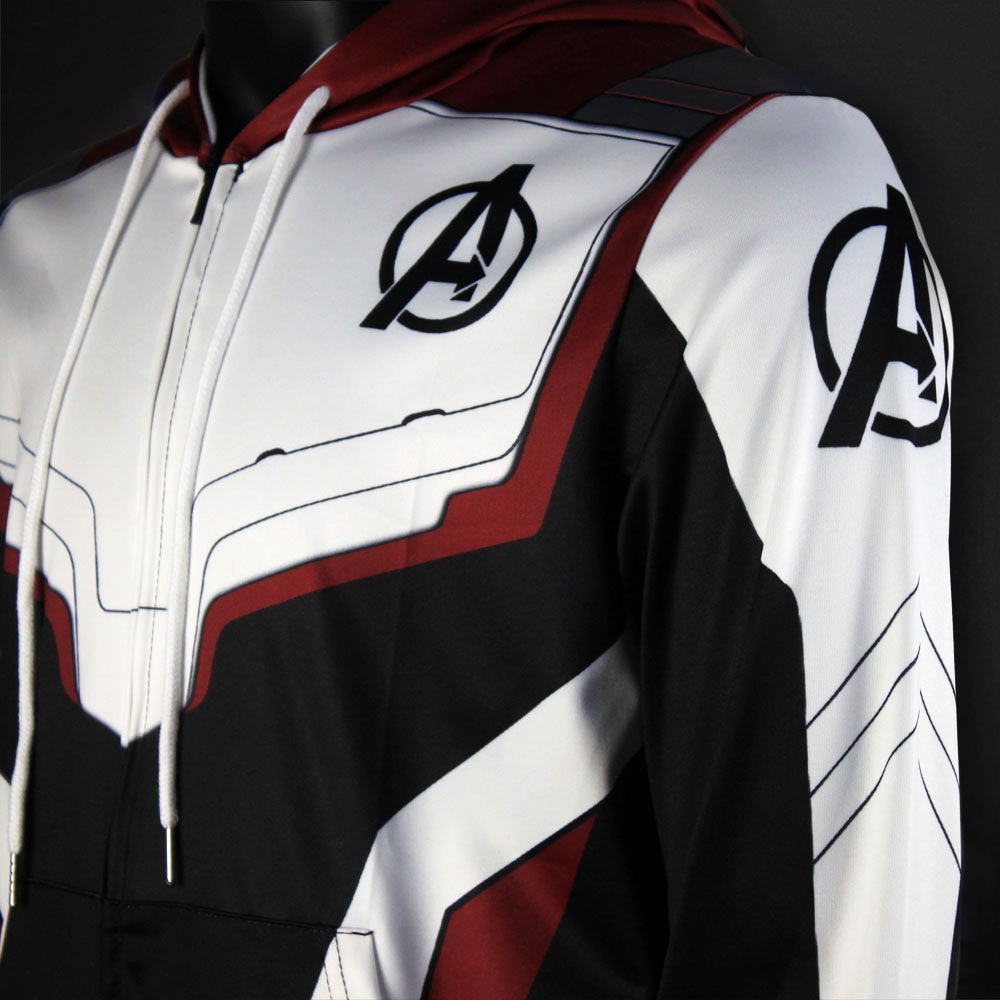 Men Women Avengers Endgame Realm Cosplay Hoodies 3D Pullover Sweatshirt Quantum Realm Superhero Zipper Jacket Costumes5