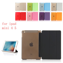 PC Leather  Case for Apple iPad mini 4 5 Fashion Smart Cover + translucent back HUEVN A1550`A1538 A2133 A2124 A212