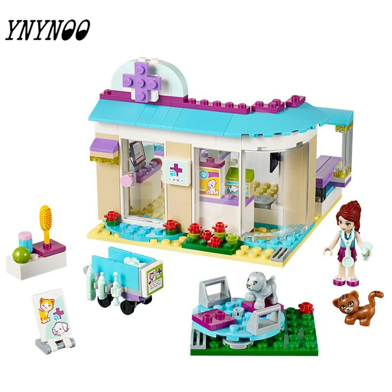 (YNYNOO)203Pcs Friends Vet Clinic Princess Anna And Kristoff's Sleigh Model Set Building Blocks Friends Gifts Toys Princess np managed heart failure clinic model