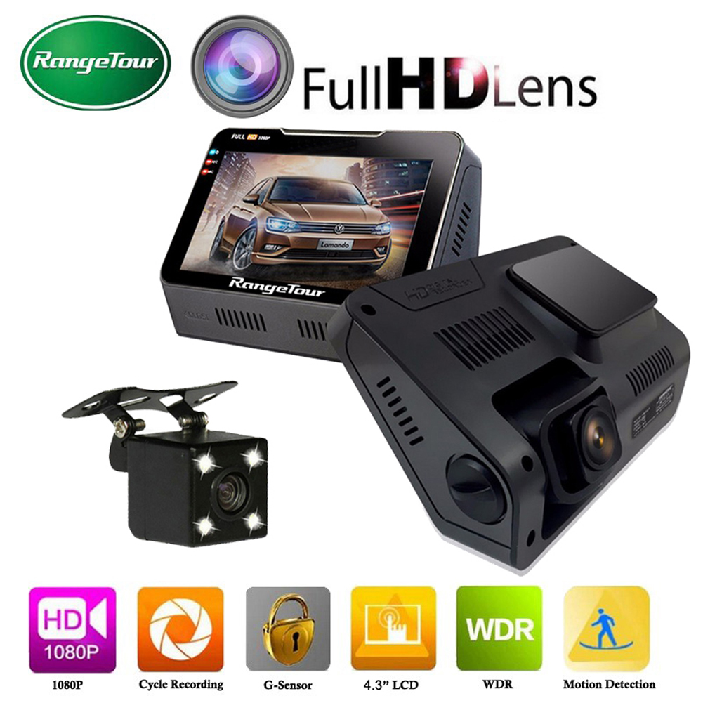 Dual Lens B90s 4.3 Inch Car DVR Camera Full HD 1080P 170 Degree Support Video Recorder G-sensor Night Vision Dash Cam ME3L plusobd for benz s w221 170 degree hd 1080p wifi dvr dash camera car dvr car accessory with night vision free shipping