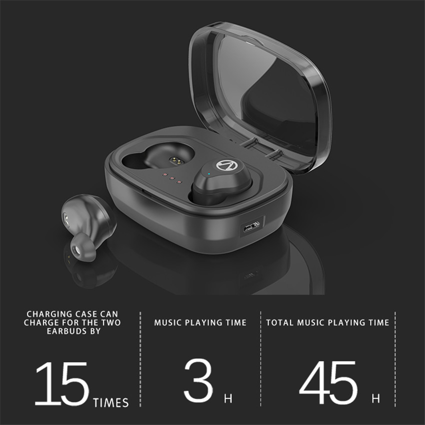 Askmeer TWS Bluetooth 5 0 Gaming Headset Touch Control Wireless Earphone Waterproof Sports Earbuds With 1600 Mah Charging box in Bluetooth Earphones Headphones from Consumer Electronics