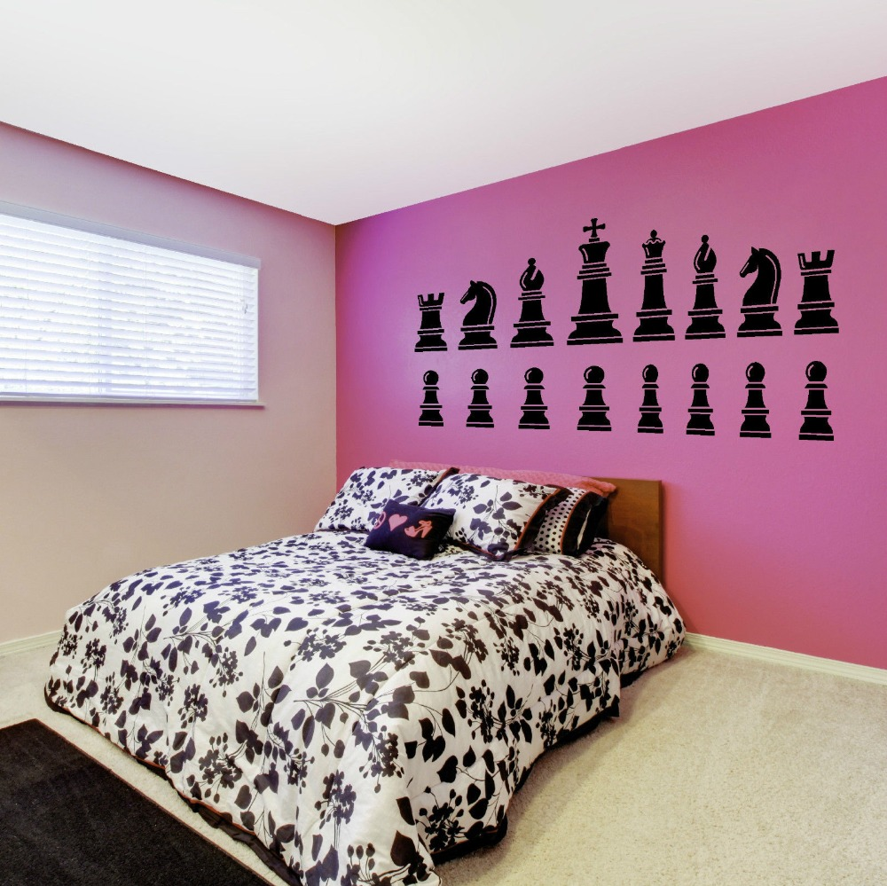 King And Queen Decor Aliexpresscom Buy Chess Set Pieces King Queen Knight Wall