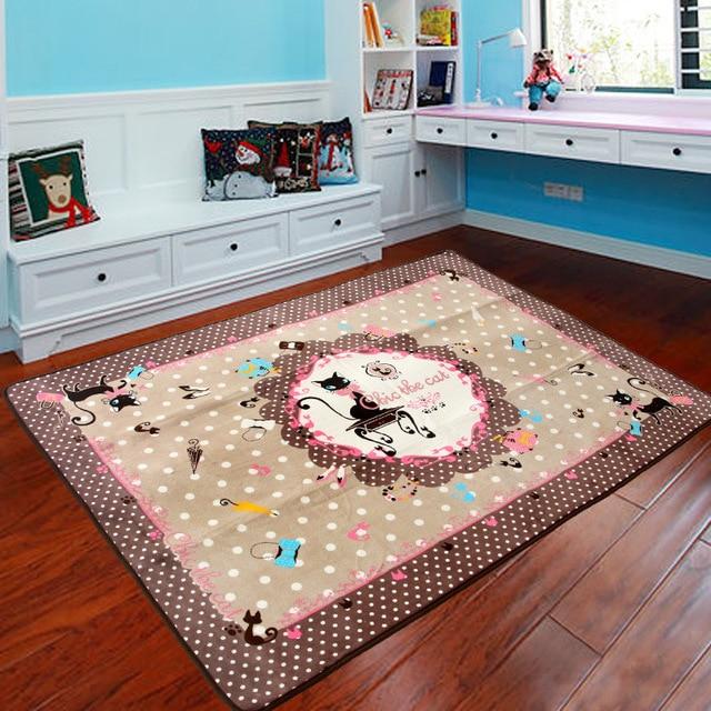 Niedlichen Cartoon Rosa Bogen Katze Design Teppich Wohnzimmer ...