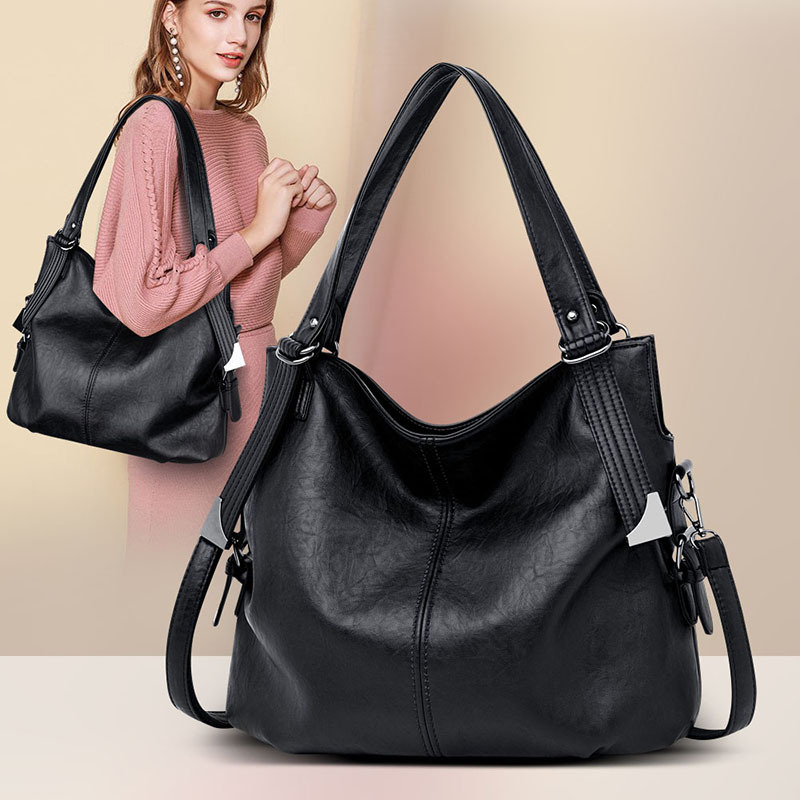 Image 5 - 2019 New Fashion Women Leather Handbags Female Genuine Leather Shoulder Crossbody Bags for Women Tote Handbags Ladies Hand Bags-in Top-Handle Bags from Luggage & Bags