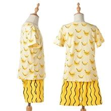Boys Summer Clothing Set Cotton Girls Clothes Banana Printing T-shirt+ Pants Boy Girl Clothing Sets Kids Clothes CF427