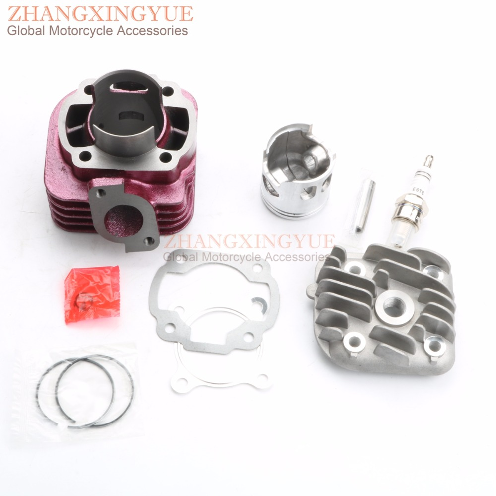 47mm/10mm Two Stroke Big Bore Kit with & E6TC Sparkling Purple for Yamaha JOG 50cc upgrade to 70cc 1E40QMB 47mm 10mm 70cc big bore cylinder barrel kit head for aprilia gulliver rally scarabeo sonic sr 50cc