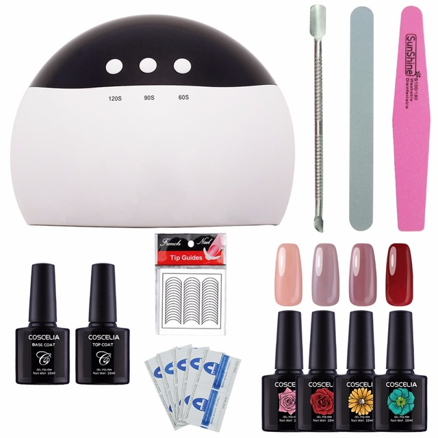 Nail Art Set For Gel Nail Polish Manicure Set Tools For Manicure 24w