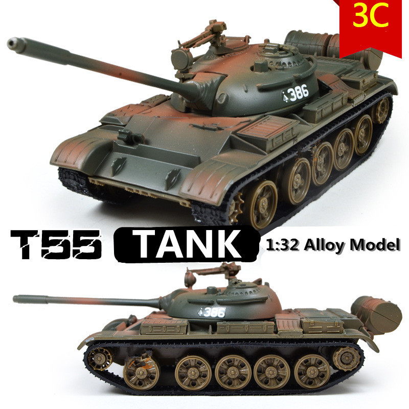 Military Model,1:32 Alloy Model T55 MBT Tank,Metal Tanks,Diecast Cars,Good Gift,free Shipping