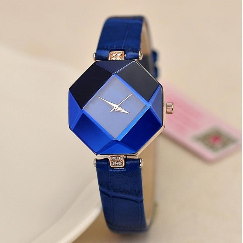Watch Women Exquisite Top Luxury Analog gem Quartz Ladies Watch Fashion Leather Wristwatch Women watches relogio feminino