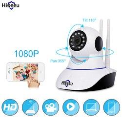 3MP Hiseeu 1080P Casa de Segurança Câmera IP Wi-fi Cartão de Memória SD de Gravação de Áudio P2P HD CCTV Câmera de Vigilância Sem Fio monitor do bebê