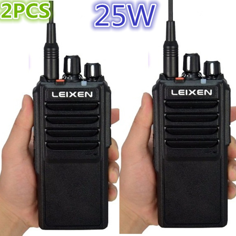 2PCS Long Range 25W High Power  LEIXEN VV-25 WalkieTalkie 10-30km Two Way Radio Handheld Transceiver