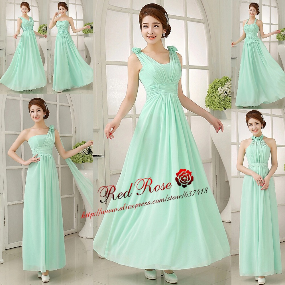 Mint green bridesmaid dresses long junior bridesmaids for Cheap wedding dress under 50