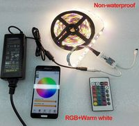 Decoration 5M SMD 5050 RGBW/RGBWW LED Strip Light DC12V 60Leds/M+Wireless RGBW WIFI Remote Dimmer Controller+ DC 12V 5A Adapter