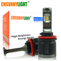 CNSUNNYLIGHT High Brightness H11 H8 9005 9006 H7 LED Car Fog Light Bulbs 3000K 6000K Switchback