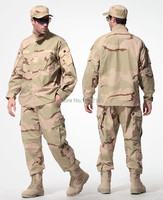 US Army Desert Tactical Military Camouflage Combat Uniform Airsoft Camo BDU Men Clothing Set Outdoor Hunting suits S XXXL