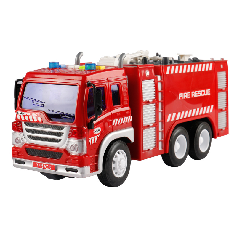 Kids Toy Clockwork Toys Vintage Fire Chief Firefighter Car Truck Model Children Classic Wind Up Toys
