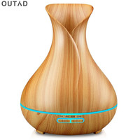400ML Led Essential Oil Diffuser Air Humidifier Aromatherapy Electric Diffuser 7 Led Lights Aroma Diffusers 12v