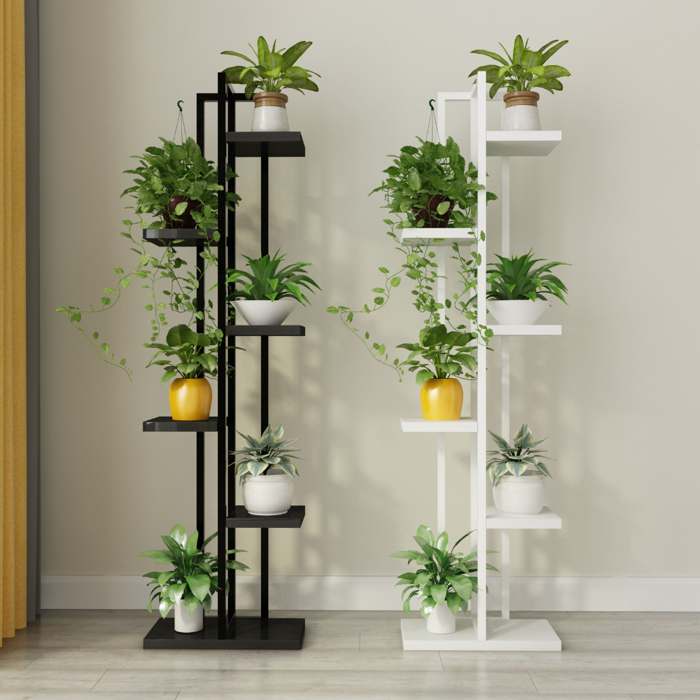 Free shipping Standing flower shelf .Living room & balcony Plant shelf . flower pot stands with wood plant shelf