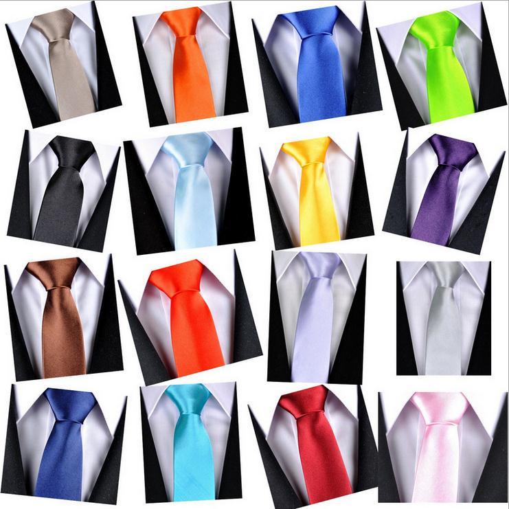 Mens Plain 5cm wide ties Wedding Neckties Formal Solid regular standard size tie
