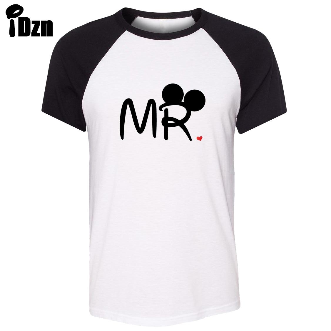 Couple t shirt design white - Idzn Unisex Summer T Shirt Mouse Mr Mrs Mate Soul Loves Kiss Art Pattern Design