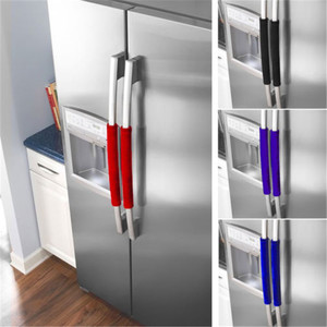 2pcs/set Kitchen Appliance Handle Cover Decor Smudges Door Refrigerator Fridge Oven Door Knob Covers