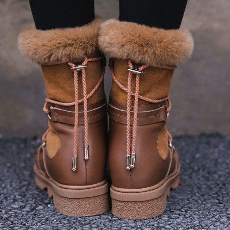 Ocasionales Las De Alta Tobillo Planos 2018 Nieve Plantilla Gamuza Peluche Negro {zorssar} Caliente marrón Mujer Mujeres Botas Calidad Vaca tZqEIwvw