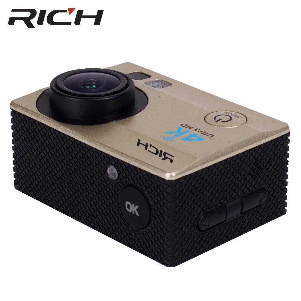Caméra d'action riche 4 K WiFi 8000 go SJ 2.0 LCD pro 170D caméra étanche sous-marine casque caméra Sport caméra mini vidéo - 4