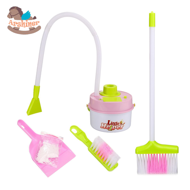Forart Kids Cleaning Set Mini Cleaning Set Doll House Decoration Home Furniture Furnishing Cleaning Cleaner Kit Realistic Housekeeping Pretend Play Toys for Early Educational Toy