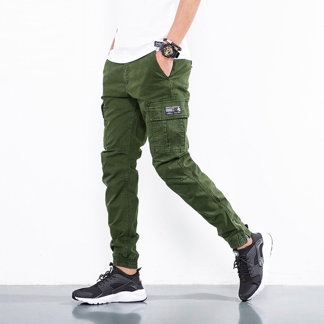 bed642abcdc ICPANS Pants 2018 Fashion Cotton Military Tactical Black Khaki Army Pants  Men Casual Cargo Pants Men Slim Trousers Big Size Pant