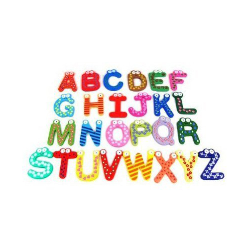 Gsfy-красочные Веселые Развлечения магнитная азбука/деревянный Магниты на холодильник детские развивающие игрушки