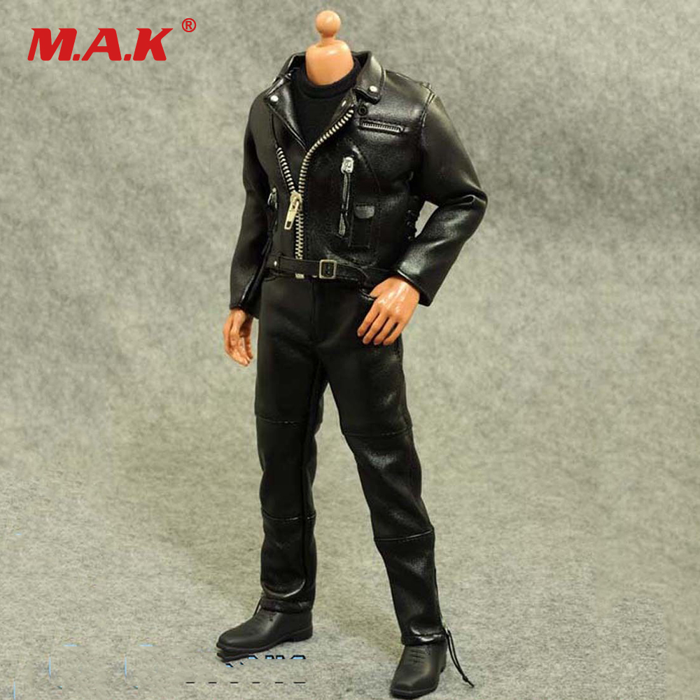 1/6 Scale Male Clothing Motorcycle Leather Clothing Suits for 12 Man Action Figure Body