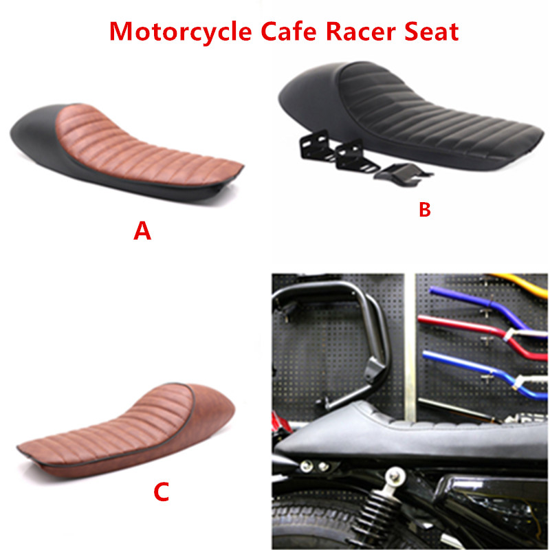 Vintage Hump Motorcycle Custom Cafe Racer Leather Seat Saddle For Honda CB CL Yamaha XJ XT350 XT600 Suzuki GS Kawasaki