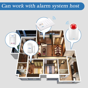 Image 5 - KERUI 433MHz 110dB Wireless Flashing Siren Sensor Alarm with F8 Transmitter Working for Home Security Alarm System