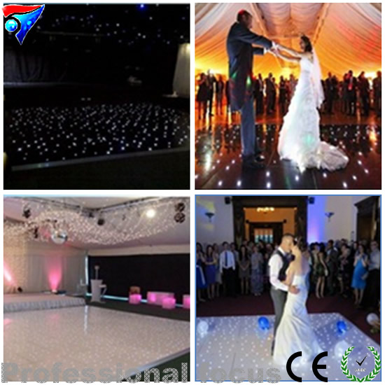10ft * 10ft звезды СИД танцпол свет белый Цвет Star Танцы пол для Свадебная вечеринка дискотека свет