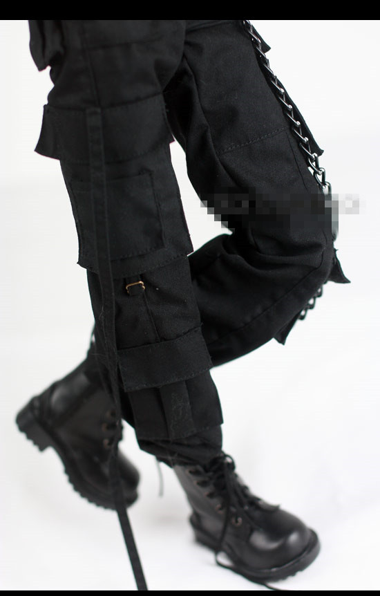 Cool Black Belt Pockets Pants Army Pants for BJD 1/4 MSD 1/3,SD17,Uncle SSDF Doll Clothes Free Chain CMB35-1 fashion bjd doll retro black linen pants for bjd 1 4 1 3 sd17 uncle ssdf popo68 doll clothes cmb67