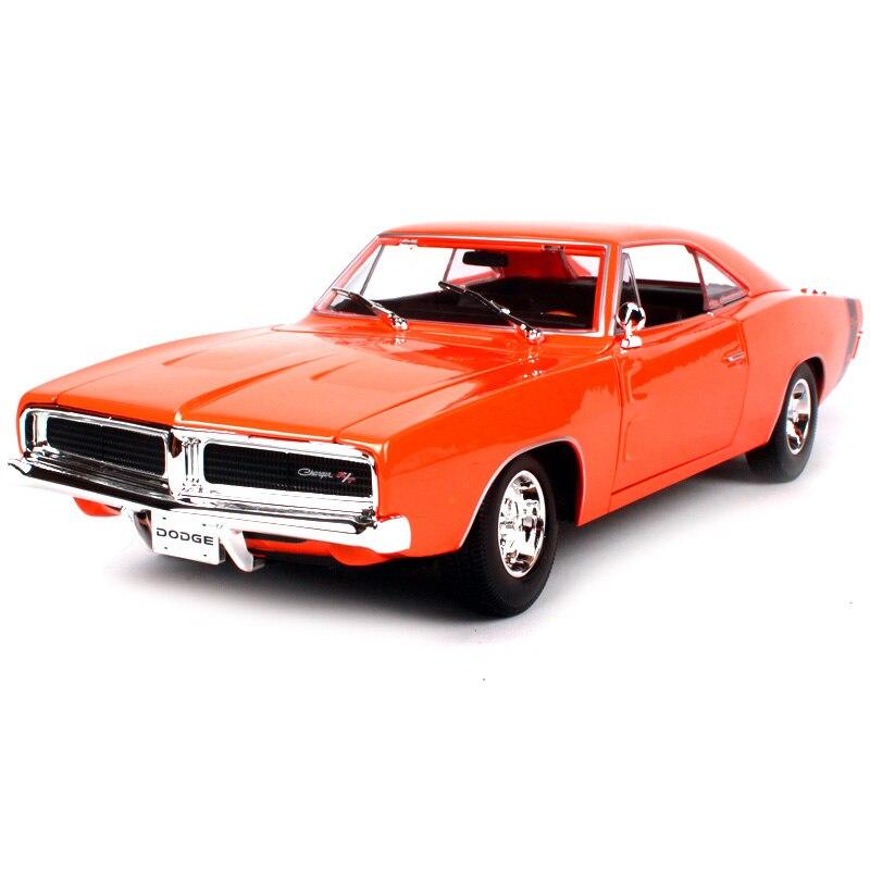 1969 Dodge Caricabatterie R//T 1:18 Modellino Auto da Maisto Arancione 31387