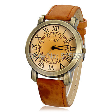 100/pcs Free Shipping High Quality Fashion Women's Watch Vintage Roman Numerals Dial Dress Watch Wholesale | Fotoflaco.net