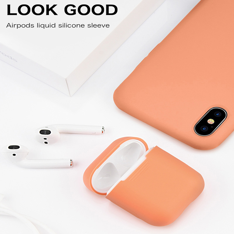 Ultra thin Silicone Bluetooth Wireless Earphone Case For Apple AirPods Cute TPU Protection Cover For Apple Airpods Charging Box in Earphone Accessories from Consumer Electronics