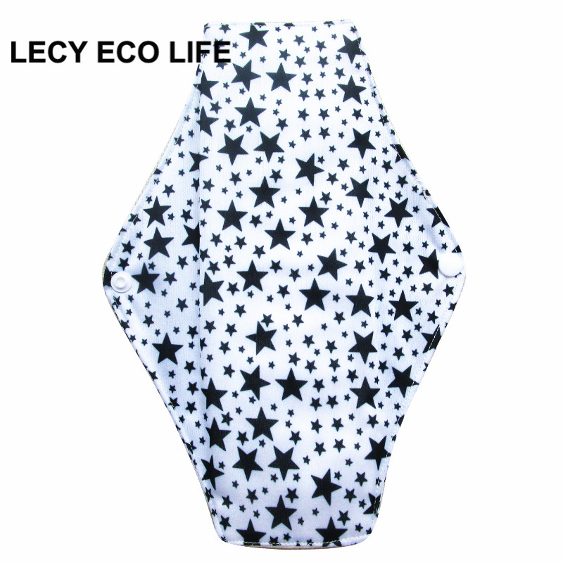 [Lecy Eco Life] Reusable lady light days cloth pads, waterproof pantyliner with bamboo charcoal inner, Feminine Hygiene Product 1