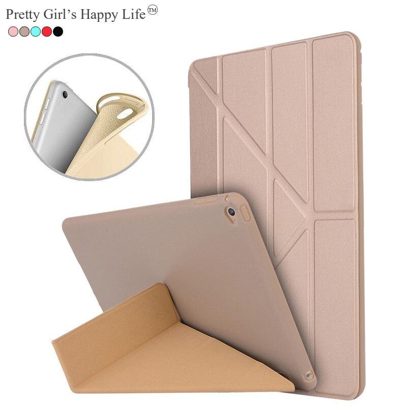 Довольно Обувь для девочек счастливой жизни Флип кожаный чехол для iPad Air 2 смарт-подставка для крышки iPad Air 2 ультра тонкий силиконовые Капа ...