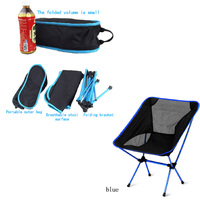 Ultralight aluminum alloy portable fold fish chair breathable backrest fishing chair outdoor leisure sports picnic camping chair