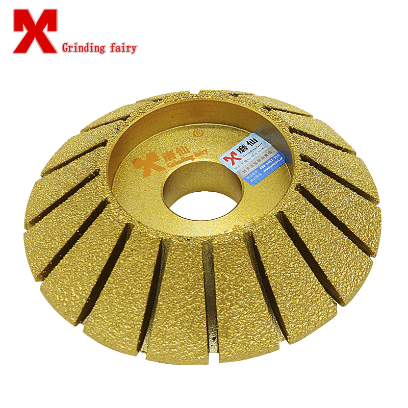 Brazing diamond grinding wheels 45 degree hypotenuse stone machine abrasives grinding wheel granite grinding disc grinding tools sintered grinding stone tools 3 7 cm thick lettering opening grinding stones