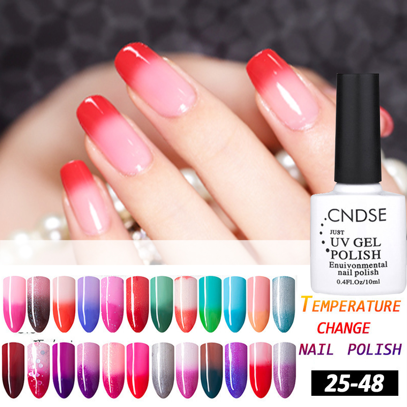 10ML Temperature Change Color UV Gel Nail Polish 72 Colors Chameleon Gel UV Nail Gel Polish Long Lasting Nail Varnish