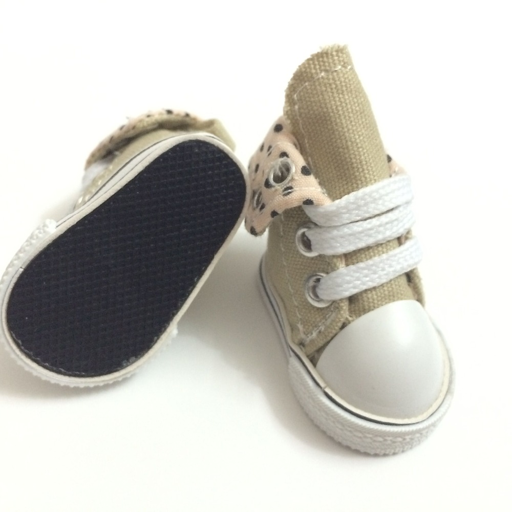 5CM BJD Doll Dolls Shoes Causal Snickers Shoes for doll, Mini Toy Boots Canvas Shoes for BJD Dolls, Fashion Doll Accessories 100 զույգ